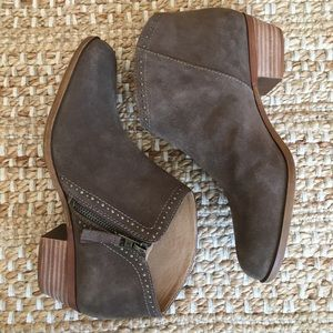 Lucky Brand Suede Benna Ankle Booties